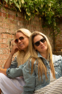 Red brick in Rose Garden friends photoshoot Southsea